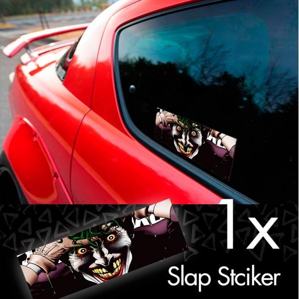 Hahaha Why So Serious v2 Bruce Wayne Suicide Insane Smile Printed Box Slap Bumper Car Vinyl Sticker>
