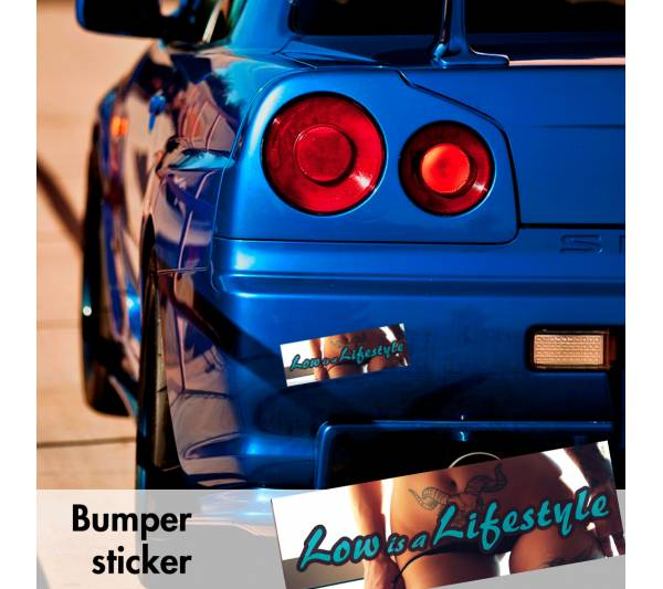 Low Lifestyle Static Sexy Bumper Printed Sticker Box Slap Stance Event Show Car Vinyl Decal