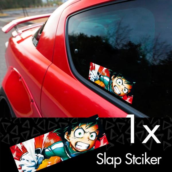 My Hero Academia v1 Logo Izuku Midoriya Quirk Deku Katsuki Ochaco Momo Shoto Anime Manga Printed Box Slap Bumper Car Vinyl Sticker