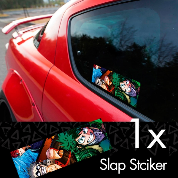 My Hero Academia v2 Logo Izuku Midoriya Quirk Deku Katsuki Ochaco Momo Shoto Anime Manga Printed Box Slap Bumper Car Vinyl Sticker