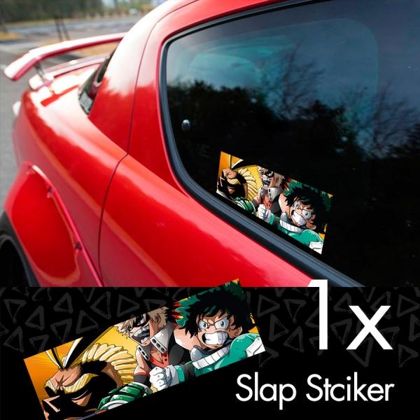 My Hero Academia v3 Logo Izuku Midoriya Quirk Deku Katsuki Ochaco Momo Shoto Anime Manga Printed Box Slap Bumper Car Vinyl Sticker