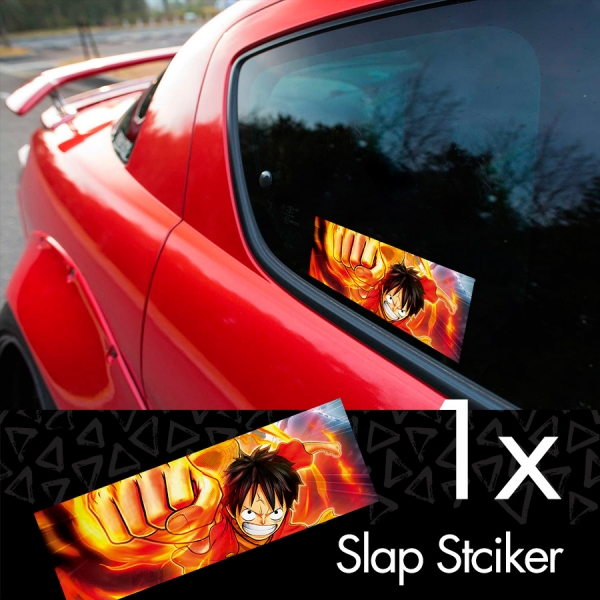 One Piece v1 Monkey D. Luffy Brook Pirates King Anime Manga Printed Box Slap Bumper Car Vinyl Sticker