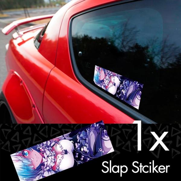 Re: ZERO Rem v3 Starting Life Another World Hajimeru Isekai Seikatsu Anime Manga Printed Box Slap Bumper Car Vinyl Sticker>