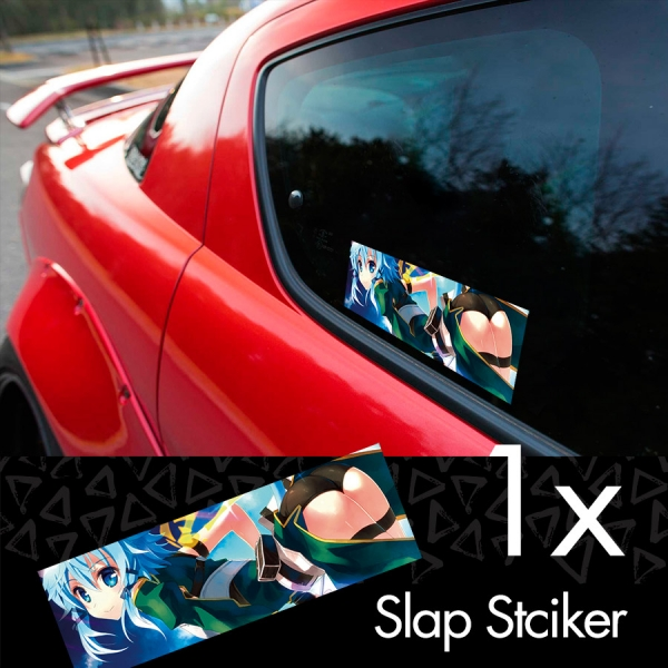 Sword Art Online Sinon V2 Asada Shino Sniper Rifle Hecate 2 Gun Gale ALfheim Game Sexy Hot Anime Manga Printed Box Slap Bumper Car Vinyl Sticker>