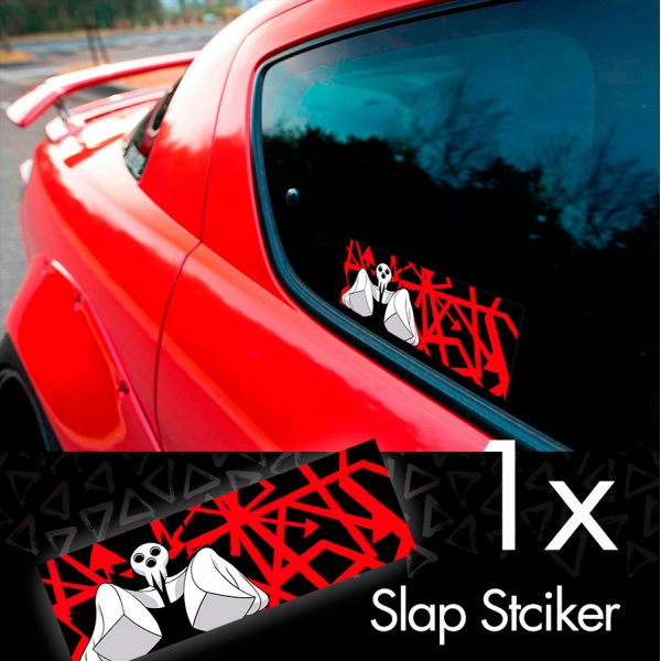 Soul Eater v1 Death God Lord Shinigami デス Desu Skull Anime Manga Printed Box Slap Bumper Car Vinyl Sticker