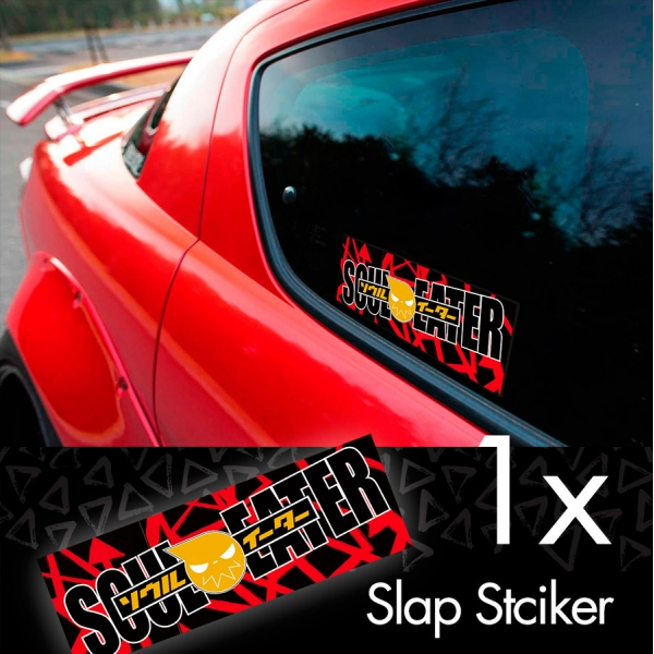Soul Eater v2 Evans Eat Demon Death Weapon Anime Manga Printed Box Slap Bumper Car Vinyl Sticker>