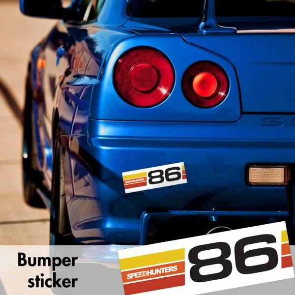 Speedhunters GT 86 Racing Toyota v10 Bumper Printed Sticker Box Slap Window JDM Stance Event Show Low Car Vinyl Decal