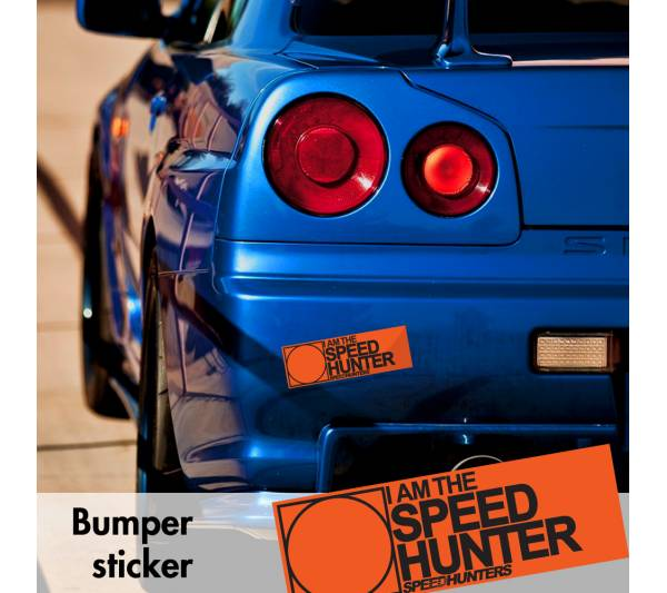 Speedhunters I am Speed Hunter v8 Bumper Printed Sticker Box Slap Window JDM Stance Event Show Low Car Vinyl Decal