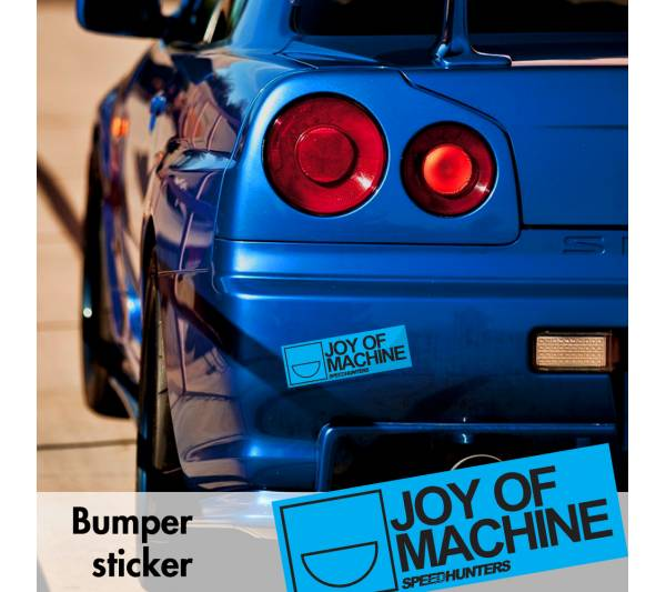 Speedhunters Joy of Machine v7 Bumper Printed Sticker Box Slap Window JDM Stance Event Show Low Car Vinyl Decal