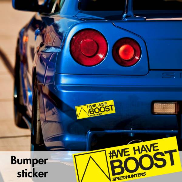 Speedhunters We Have Boost v5 Bumper Printed Sticker Box Slap Window JDM Stance Event Show Low Car Vinyl Decal