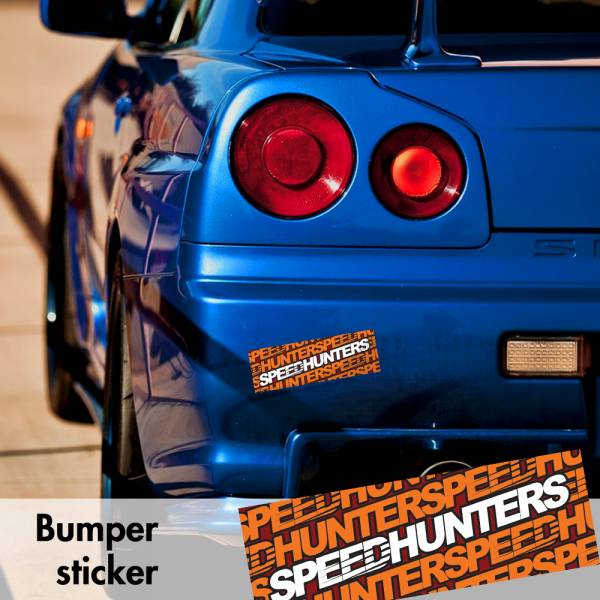Speedhunters v4 Bumper Printed Sticker Box Slap Window JDM Stance Event Show Low Car Vinyl Decal