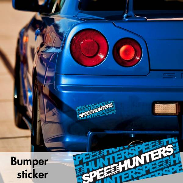 Speedhunters v2 Bumper Printed Sticker Box Slap Window JDM Stance Event Show Low Car Vinyl Decal