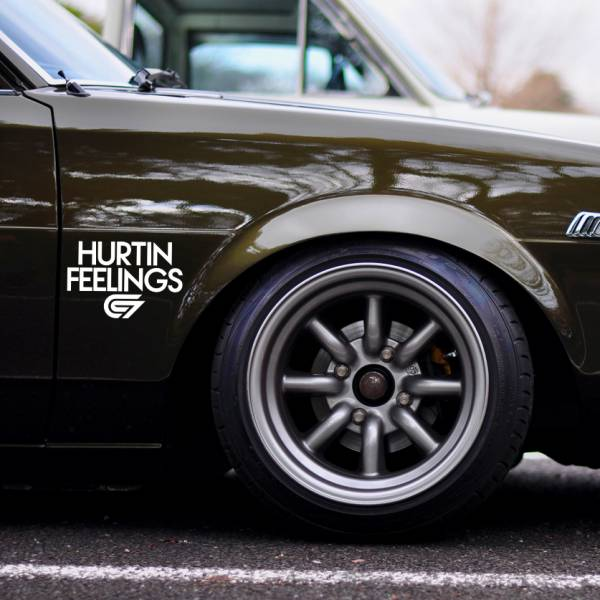 2x Hurtin Feelings Cambergang  v6 Camber JDM KDM Stance Tuning Rising Sun Japan Car Vinyl Sticker Decal