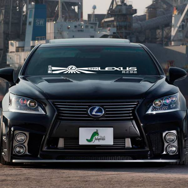 Windshield Banner Lexus レクサス IS 200 250 300 350 RC F ES LS LX  Japan Stance Tuning Build Rising Sun Katakana Racing Car Vinyl Sticker Decal