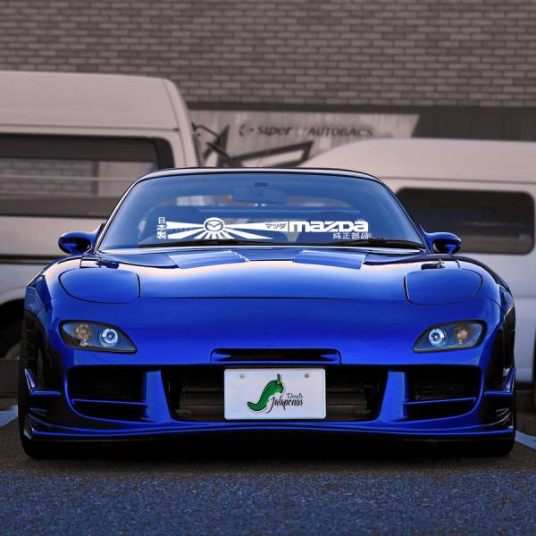 Windshield Banner マツダ 3 6 MX5 Miata RX7 RX8 CX3 CX4 CX5 RE-Amemiya Japan Stance Tuning Build Rising Sun Katakana Racing Car Vinyl Sticker Decal>
