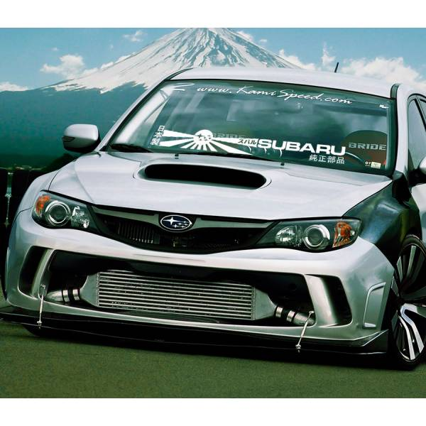 Windshiled Banner スバル STI WRX SPT Impreza BRZ Flat Boxer Japan Rising Sun Katakana Racing Car Vinyl Sticker Decal>