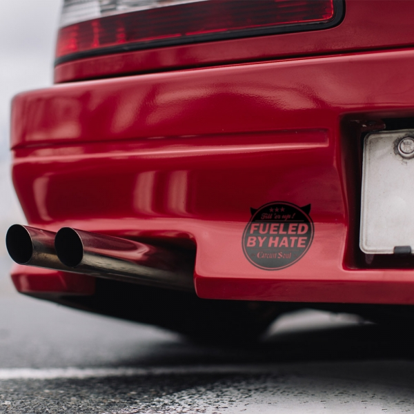 Fueled by Hate v2 Fill er Up Devil Circuit Soul Logo Hard Style Iron Mind Racing Japan Made JDM Sticker Decal