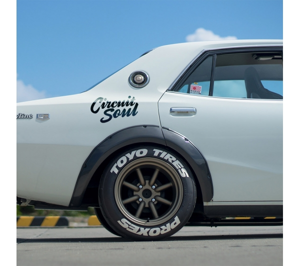 Circuit Soul v2 CS  Hard Style Iron Mind Tuning Racing Japan Made Rising Sun JDM Sticker Decal