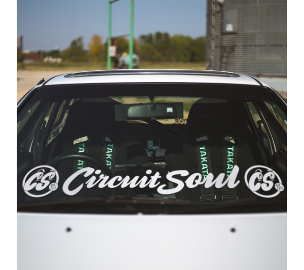 Circuit Soul v2 Windshield Banner Stripe CS Hard Style Iron Mind Racing Japan Made JDM Sticker Decal>