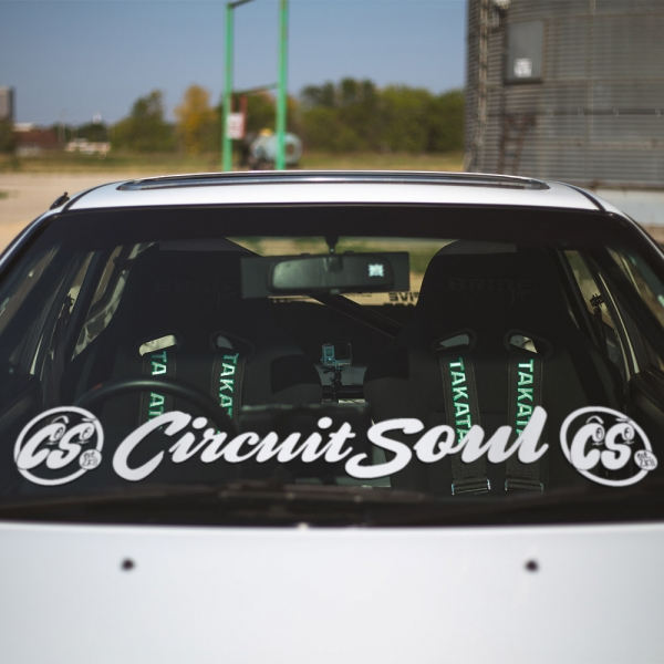 Circuit Soul v2 Windshield Banner Stripe CS Logo Hard Style Iron Mind Racing Japan Made JDM Sticker Decal