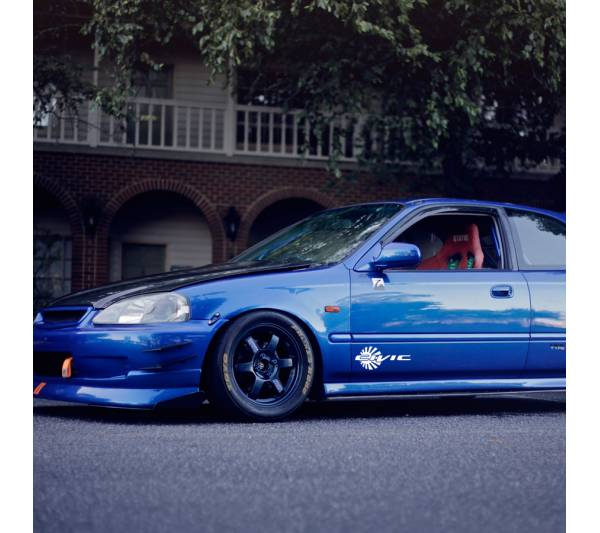 Civic Rising Sun Banner Honda EK EG EF EJ FC FB FD Type R Si Mugen Racing Low Show Stance Slammed JDM Car Vinyl Sticker Decal