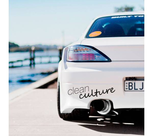 Clean Culture v2 Simply Banner Windshield  JDM Stance Carshow Event Tuning Car Vinyl Sticker Decal