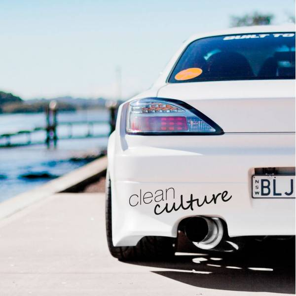 Clean Culture v2 Simply Banner Windshield JDM Stance Carshow Event Tuning Car Vinyl Sticker Decal >