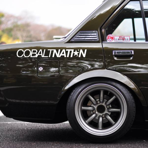 Windshield JDM Cobalt Nation v3 Logo Simply Clean Stance Rising Sun Japan JDM Car Vinyl Sticker Decal