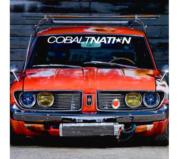 Windshield JDM Cobalt Nation v2 Logo Simply Clean Stance Rising Sun Japan JDM Car Vinyl Sticker Decal