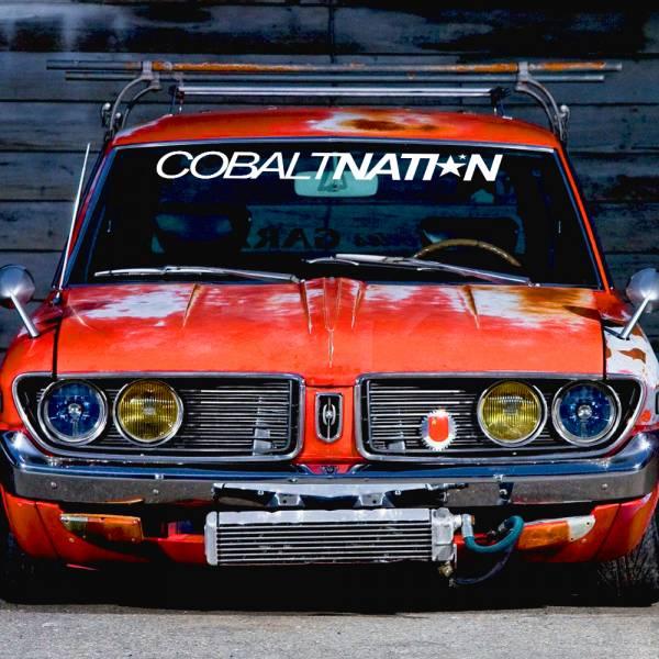 Windshield JDM Cobalt Nation v2 Simply Clean Stance Rising Sun Japan JDM Car Vinyl Sticker Decal >