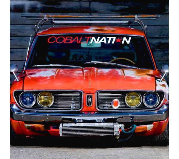 Windshield JDM Cobalt Nation v1 Logo Simply Clean Stance Rising Sun Japan JDM Car Vinyl Sticker Decal