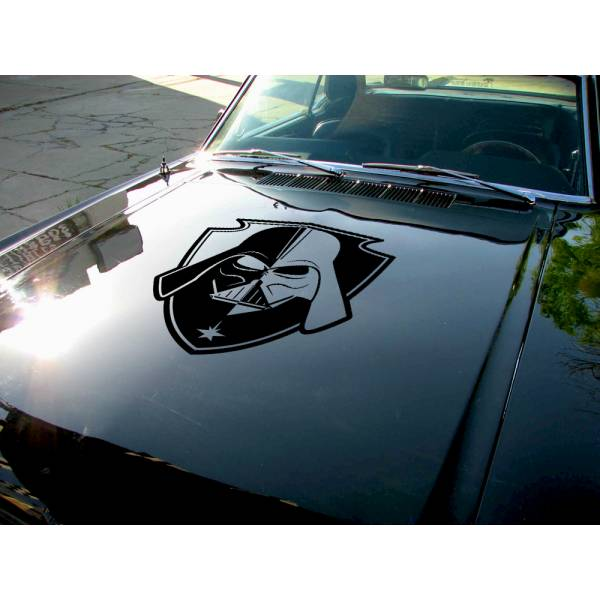 Hood Darth v3 Helmet Galactic Empire Sith Dark Side Force Bad Evil Luke Skywalker Car Vinyl Sticker Decal>