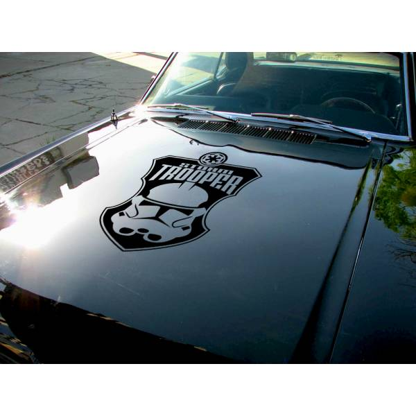 Hood Stormtrooper Helmet Galactic Empire Darth Sith Jedi Clone Dark Force Bad Evil Car Vinyl Sticker Decal>