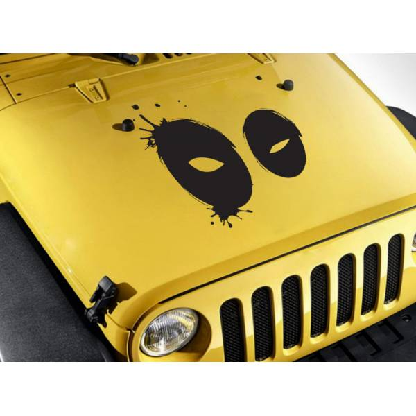 Wade Wilson Mask Eyes Blood Hood Bad Superhero Comic Car Vinyl Sticker Decal>