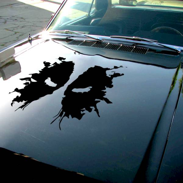 Deadpool Shadow Splash Eyes Hood Bad Badass Wilson Superhero Marvel Comics Car Vinyl Sticker Decal