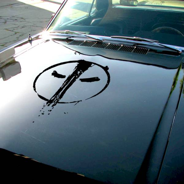 Wade Wilson  Blood Distressed Splash Eyes Hood Bad Badass Wilson Superhero  Comics Car Vinyl Sticker Decal>