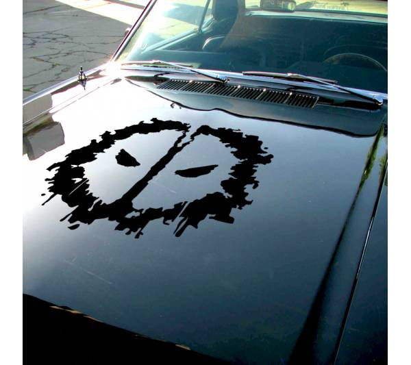 Deadpool Logo Shadow Splash Eyes Hood Bad Badass Wilson Superhero Marvel Comics Car Vinyl Sticker Decal