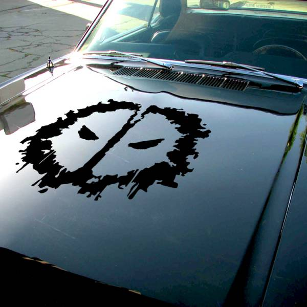 Wade Wilson Shadow Splash Eyes Hood Bad Badass Wilson Superhero Comic Car Vinyl Sticker Decal>