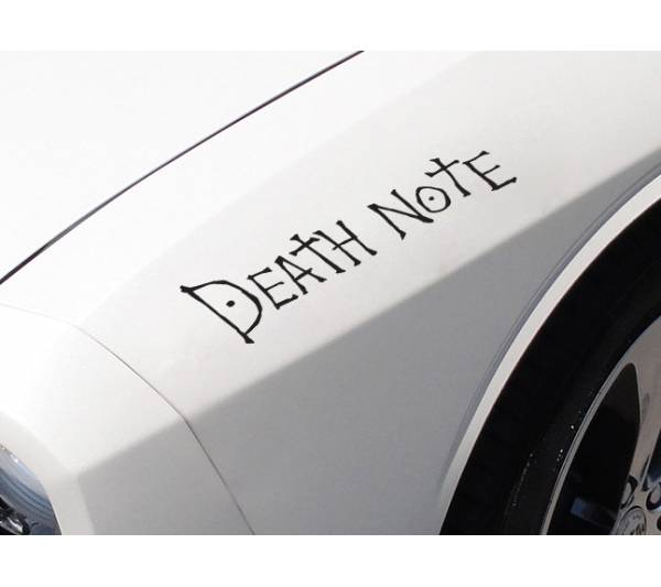 Death Note Logo v1 L Light Yagami Shinigami Ryuk Anime Manga Body Windshield Sticker Decal