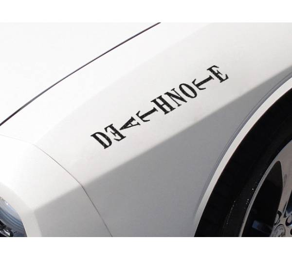 2x Death Note Logo v2 L Light Yagami Shinigami Ryuk Anime Manga Body Windshield Sticker Decal