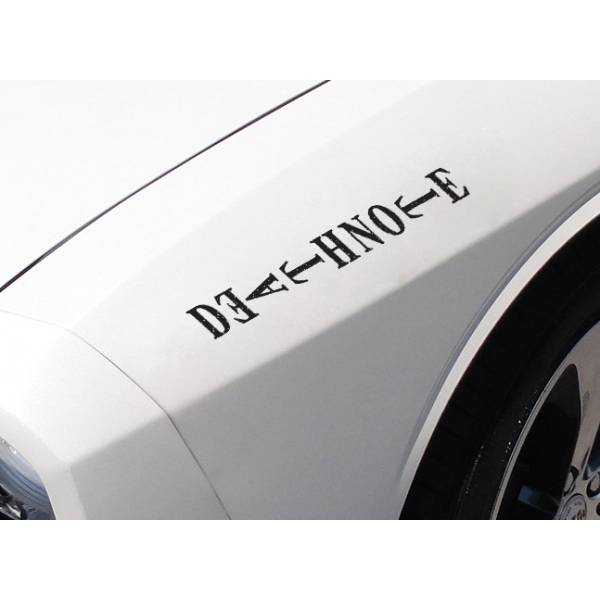 2x Death Note Logo v2 L Light Yagami Shinigami Ryuk Anime Manga Body Windshield Sticker Decal