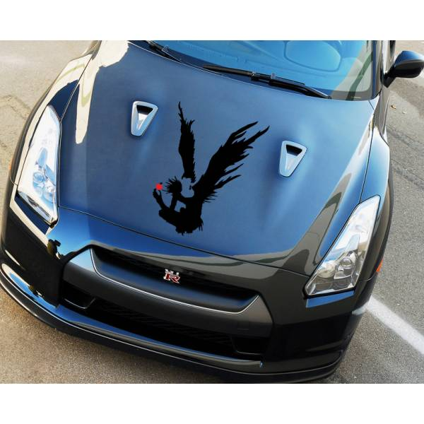 Death Hood Shinigami Ryuk Apple v2 Light Yagami Anime Manga Body Windshield Sticker Decal>