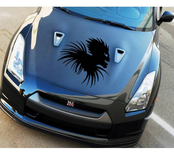 Death Note Hood Shinigami Ryuk v3 Light Yagami Anime Manga Body Windshield Sticker Decal