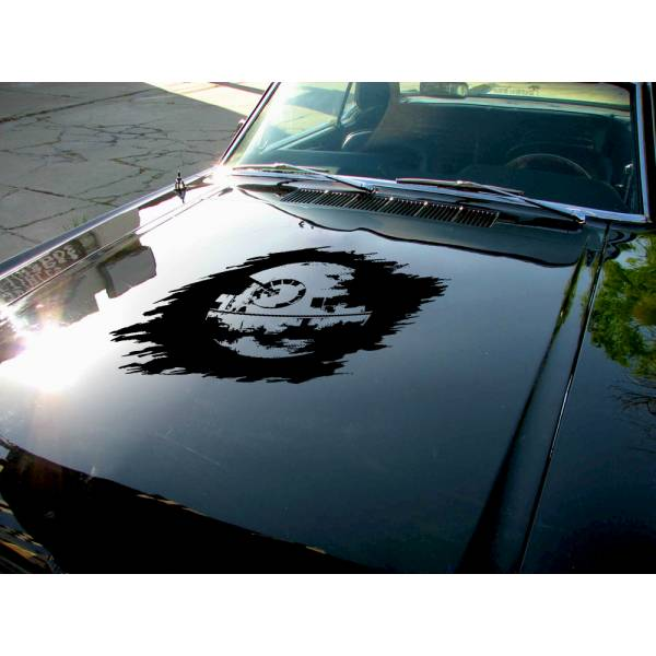 Hood Death Star v1 darth Vader Sith Galactic Empire Clone Force Bad Evil Wars Car Vinyl Sticker Decal>