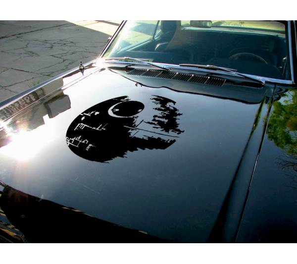 Hood Death Star v2 darth Vader Sith Galactic Empare Clone Force Bad Evil Wars Car Vinyl Sticker Decal