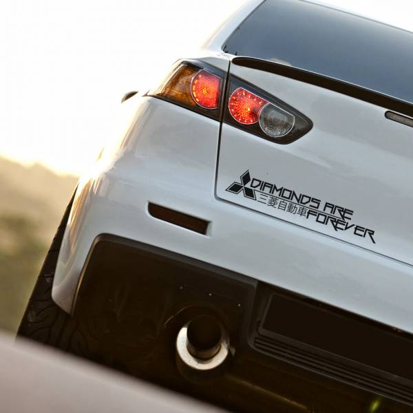 Forever Diamonds Funny Kanji Katakana EVO Lancer Racing Rising Sun Made in Japan JDM Car Vinyl Sticker Decal>