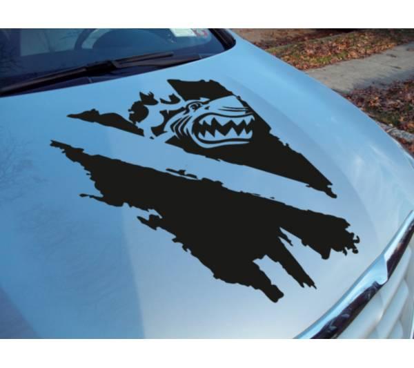 Hood Diver Flag Distressed Scuba Diving Shark Ocean Sea Sport Vinyl Decal Car