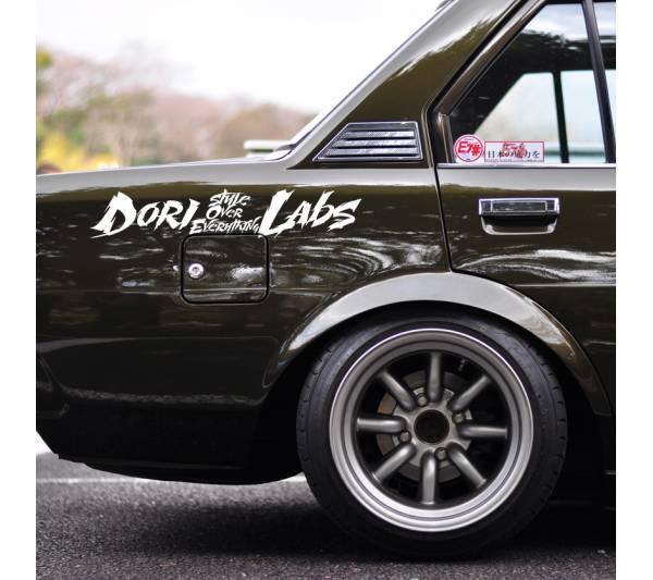 Dori Labs Banner v3 Drift Racing Stance Low Slammed Style JDM Car Vinyl Sticker Decal