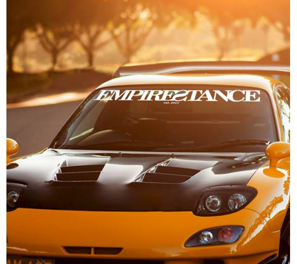 Long Empire Stance Society Logo Show Royal Event Stance Banner Windshield Strip JDM Low Vinyl Decal
