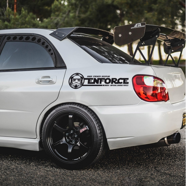 2x Pair Enforce Stormtrooper Darth Vader Sith Galactic Empire Clone Force Star Wars Car Vinyl Sticker Decal